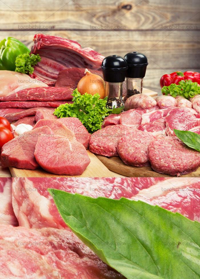 عکس با کیفیت گوشت و محصولات پروتئینی