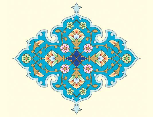 وکتور طرح المان و نماد اسلامی شماره ۵۸