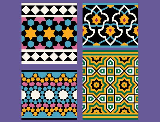 وکتور طرح کاشی کاری اسلامی شماره 170