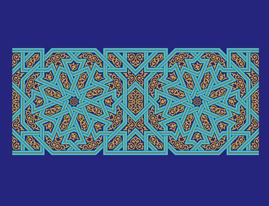 وکتور طرح کاشی کاری اسلامی شماره ۱۷۲