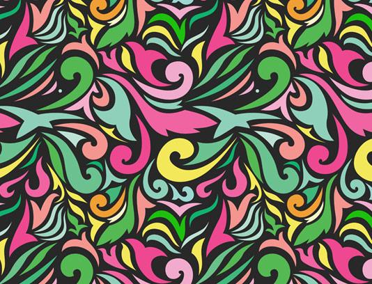 وکتور طرح پترن بوته های رنگارنگ انتزاعی