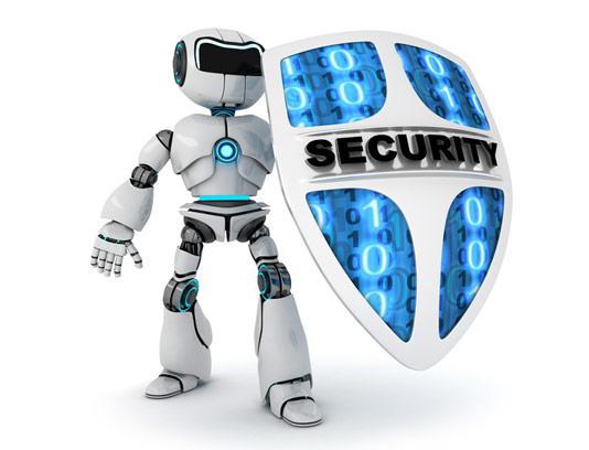 عکس با کیفیت ربات انسان نمای محافظ امنیتی