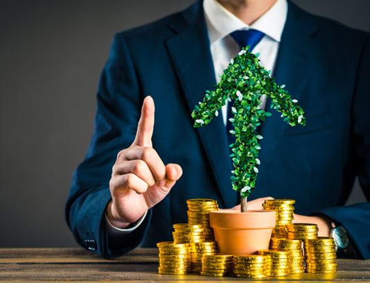 عکس مفهومی با کیفیت پول و سود در استارتاپ