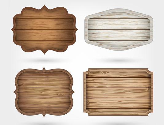 وکتور تابلوهای چوبی در چهار مدل مختلف