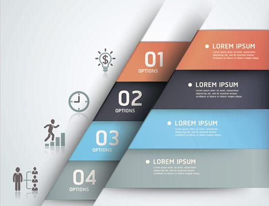 وکتور طرح المنت طراحی اینفوگرافیک چهار قسمتی