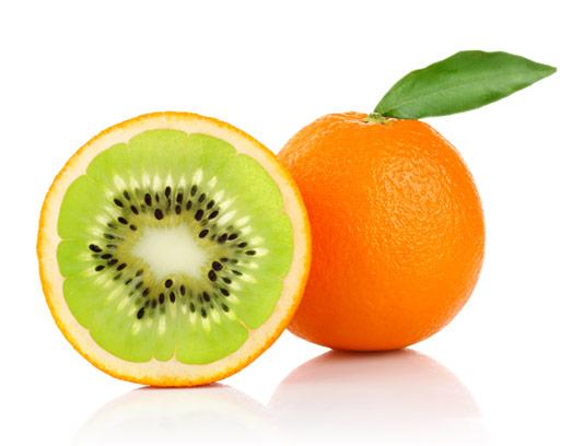 عکس با کیفیت میوه خلاقانه پرتقال با طعم کیوی