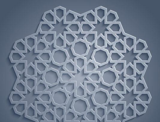 وکتور طرح پترن پنجره ای عربی اسلامی