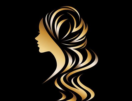 وکتور لوگوی آرایشی و بهداشتی طلایی رنگ