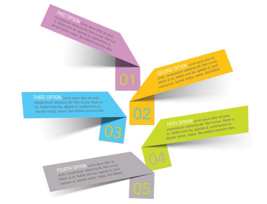 وکتور طرح برچسب های متنی اینفوگرافیک