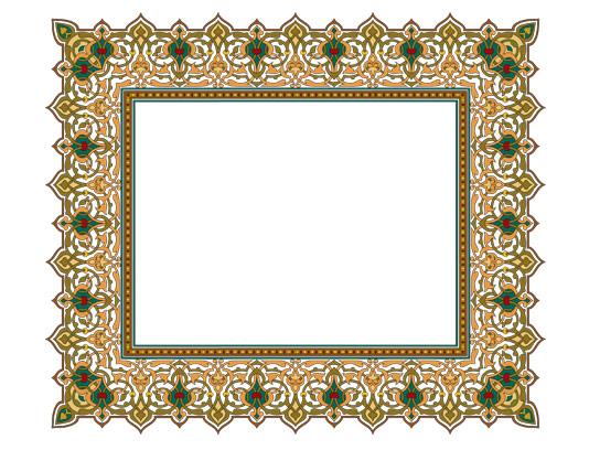 وکتور طرح قاب و حاشیه اسلامی سنتی