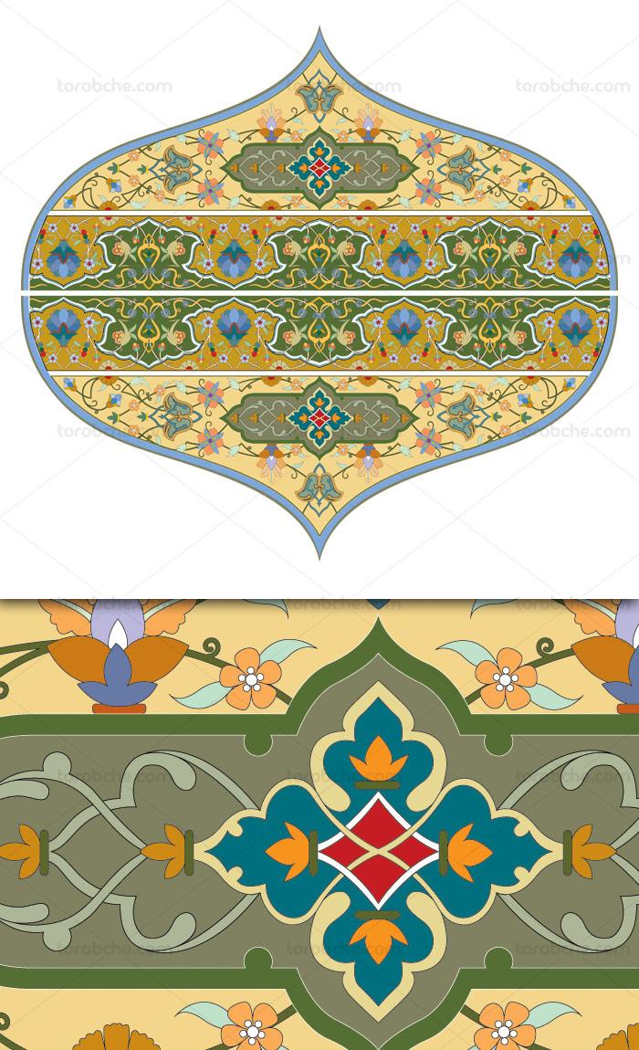 وکتور طرح نماد و المان اسلامی شماره ۶۲