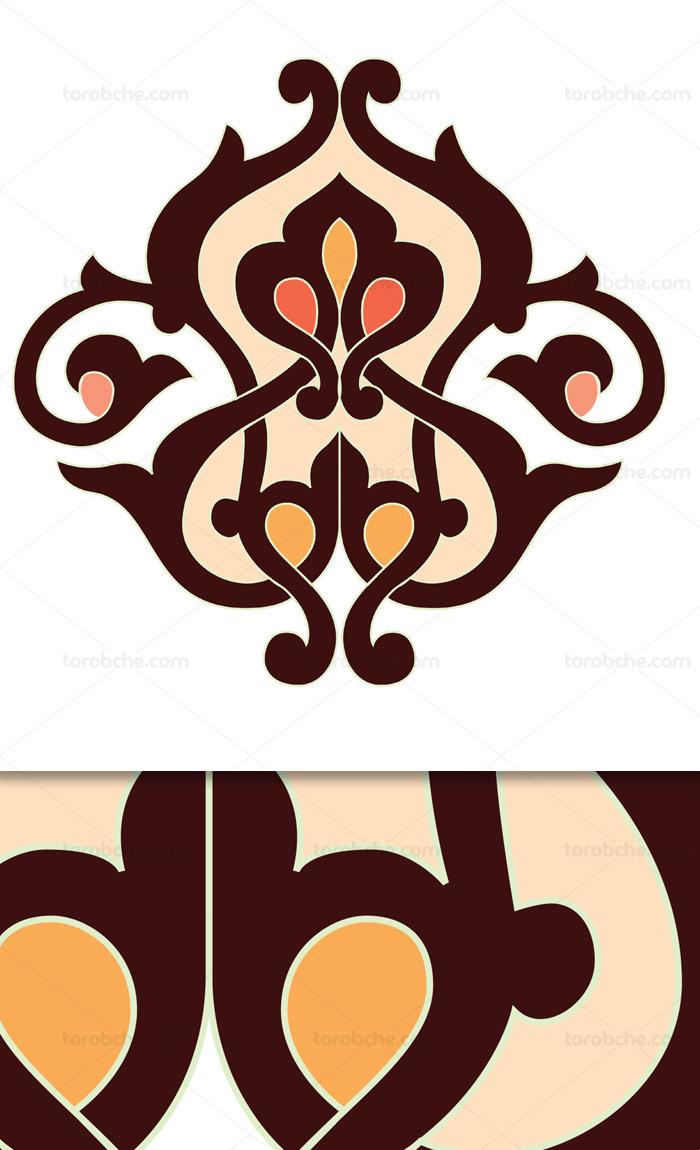 وکتور طرح نماد و المان اسلامی شماره ۶۳