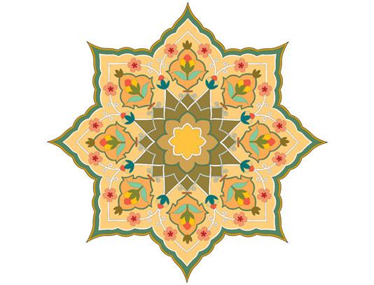 وکتور طرح نماد و المان اسلامی شماره ۶۴