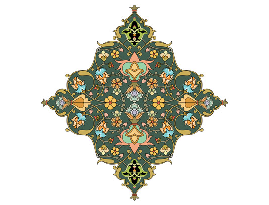 وکتور طرح کاشی کاری اسلامی شماره ۱۷۴