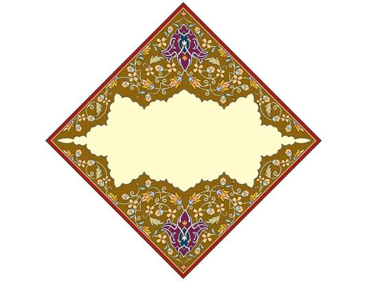 وکتور طرح کاشی کاری اسلامی شماره ۱۷۶