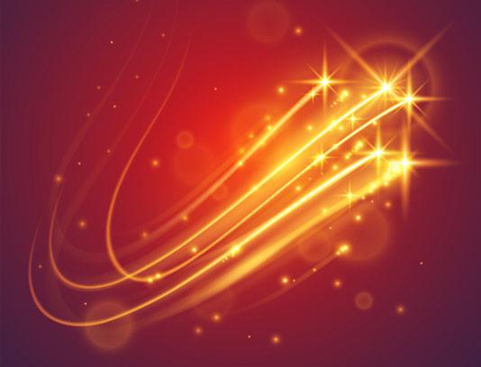 وکتور طرح بکگراند افکت نورانی و ستاره های کهکشانی