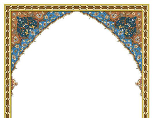 وکتور طرح محراب مسجد اسلامی شماره ۱۰