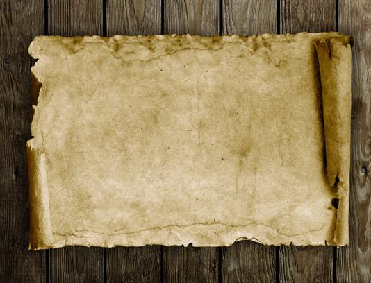 تکسچر و بکگراند کاغذ قدیمی رول شده