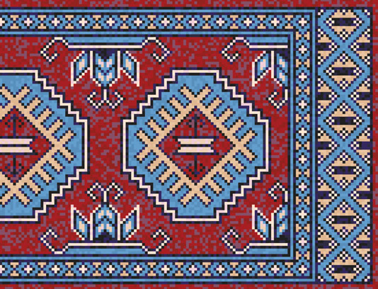وکتور طرح نقشه گلیم سنتی و قدیمی ایرانی