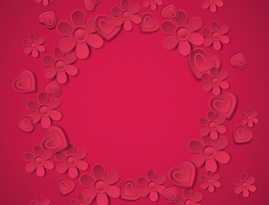 وکتور طرح بکگراند گل های کاغذی قرمز رنگ