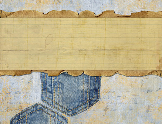تکسچر و بکگراند با بافت کاغذ قدیمی و پارچه جین