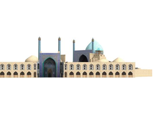 عکس با کیفیت مسجد سه بعدی
