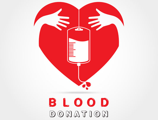 وکتور طرح لوگوی اهدای خون و نماد قلب