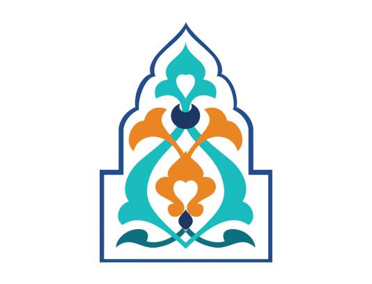 وکتور طرح نماد و المان اسلامی فیروزه ای