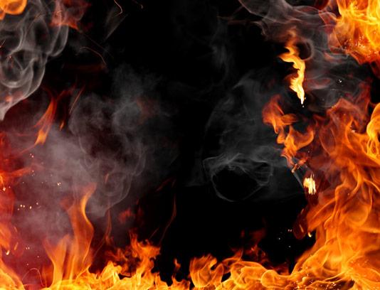 عکس با کیفیت بکگراند آتش و دود