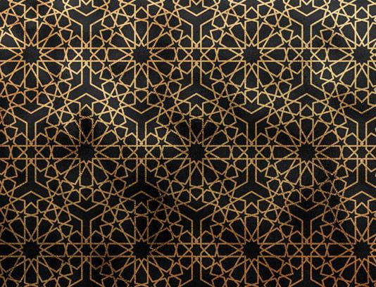 طرح تکسچر و پترن طلایی رنگ اسلامی با کیفیت عالی
