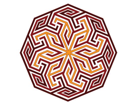 وکتور طرح المان و نماد اسلامی شمسه شماره ۷۵