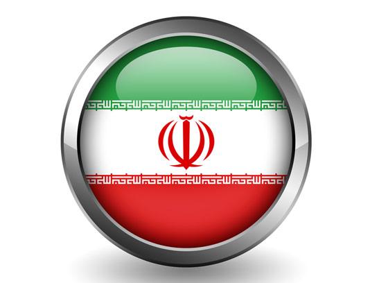 عکس با کیفیت دکمه با نقش پرچم ایران