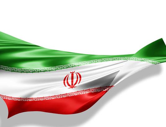 عکس با کیفیت پرچم جمهوری اسلامی ایران با زمینه سفید