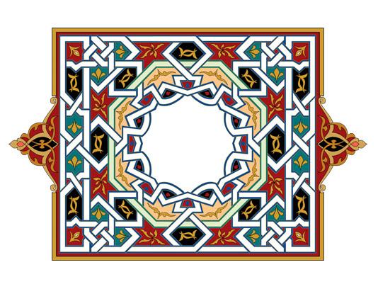 وکتور طرح المان و نماد اسلامی شماره ۶۸