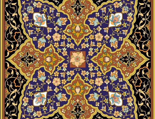 وکتور طرح کاشی کاری اسلامی شماره ۱۷۸