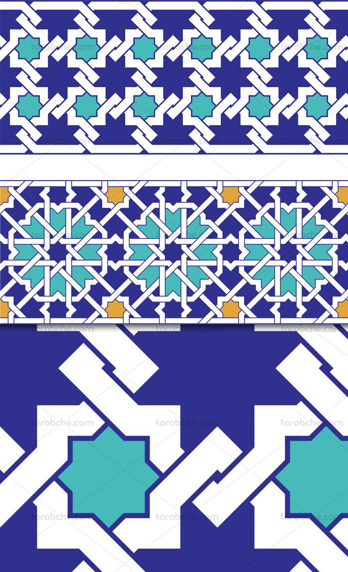 وکتور طرح کاشی کاری اسلامی شماره ۱۸۰