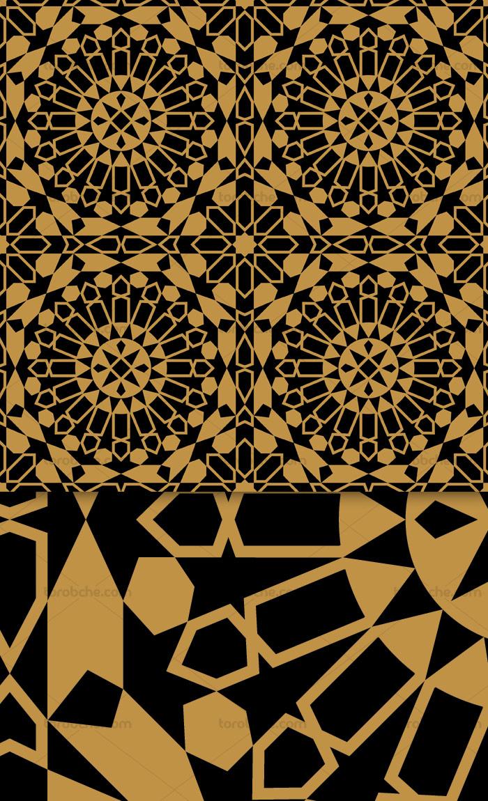 وکتور طرح کاشی کاری اسلامی شماره ۱۸۳
