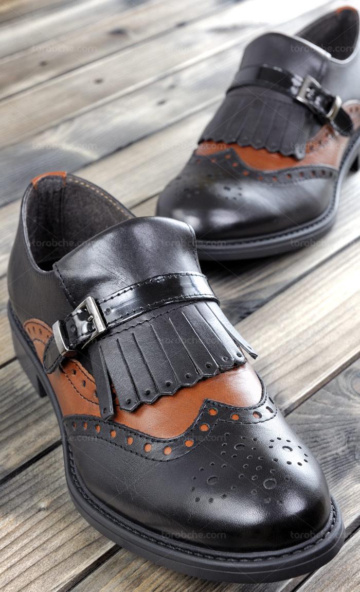 عکس با کیفیت کفش مردانه چرمی مشکی رنگ