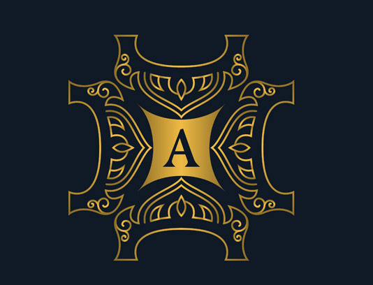 وکتور طرح لوگوی مونوگرام لاکچری شماره ۲۶