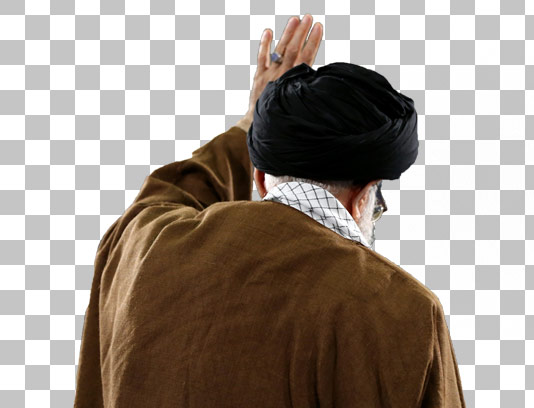 عکس دوربری شده رهبر جمهوری اسلامی ایران آیت الله خامنه ای(مد ظله العالی)