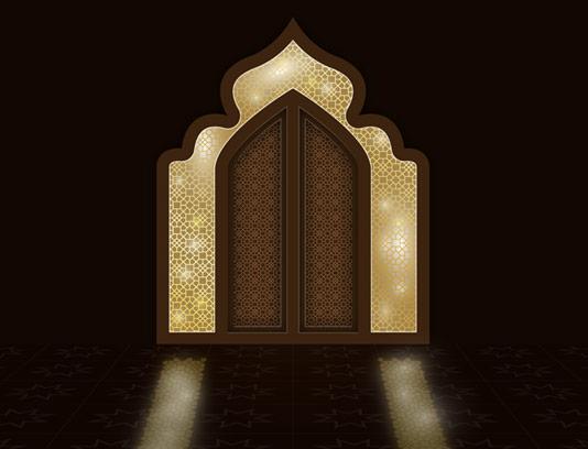 وکتور طرح درب های اسلامی در رمضان کریم