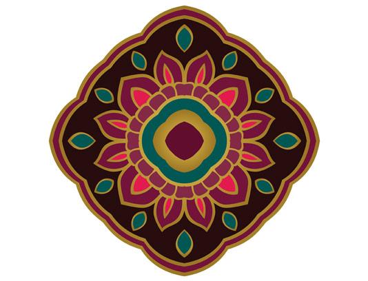 وکتور طرح نماد و المان طراحی فرش و گلیم