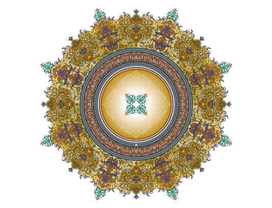 وکتور طرح نماد و المان شمسه شماره ۰۲
