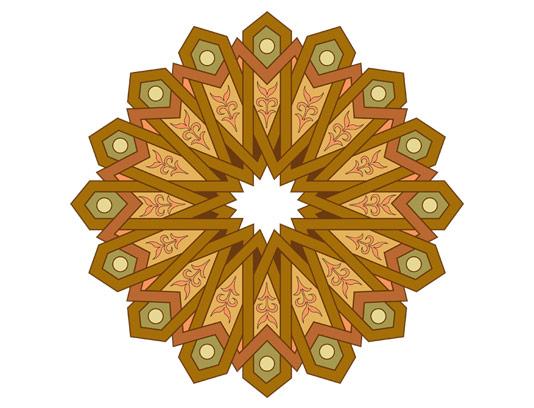 وکتور طرح نماد و المان اسلامی شمسه شماره ۰۴
