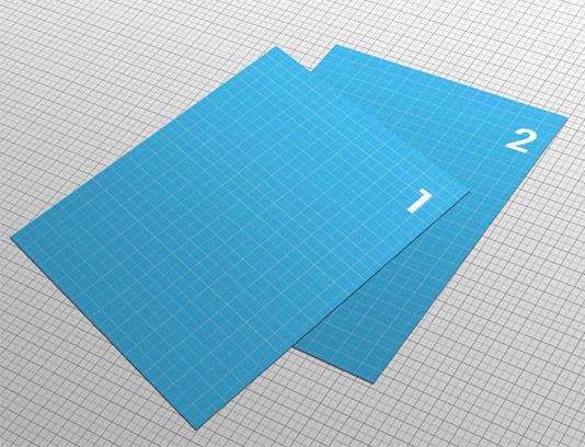 طرح لایه باز موکاپ بروشور و تراکت در ابعاد A4