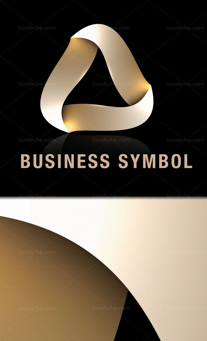 وکتور طرح لوگوی المان انتزاعی کسب و کار