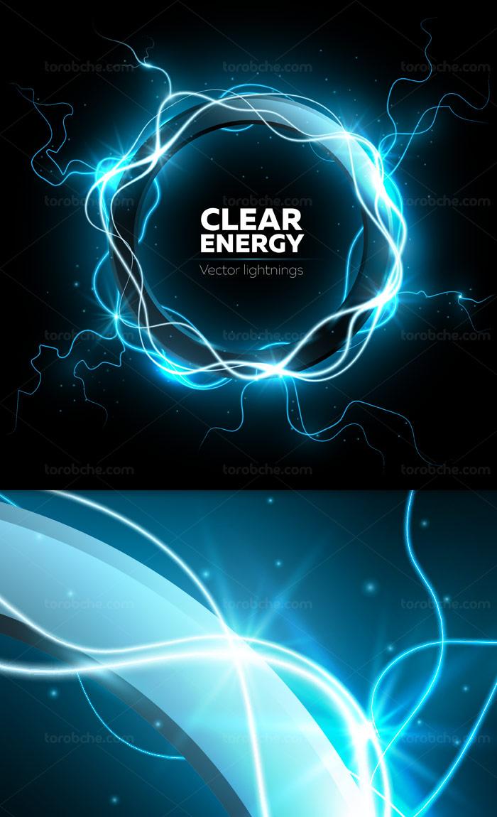 وکتور طرح حلقه الکترونیکی انرژی پاک