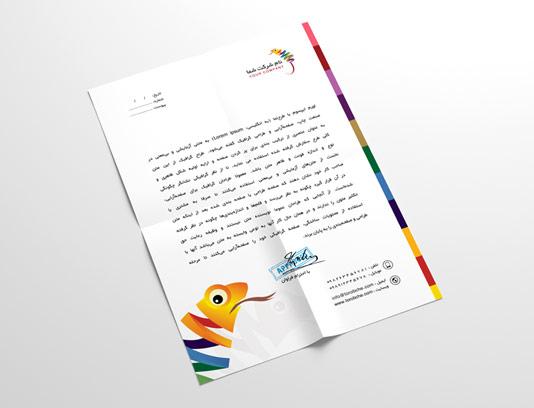 طرح لایه باز سربرگ شرکتی خلاقانه رنگارنگ
