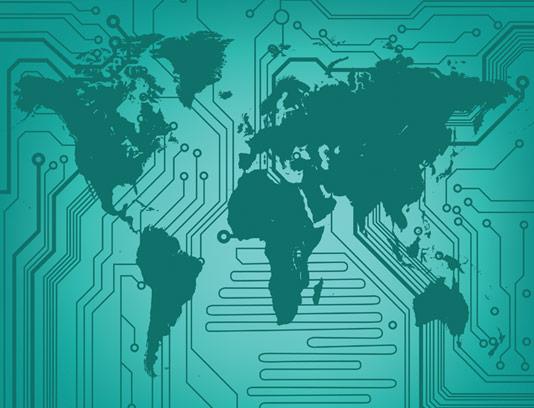 وکتور طرح بکگراند دنیای الکترونیکی