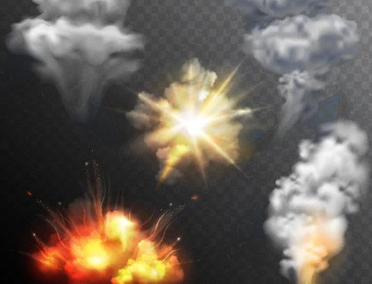 وکتور افکت های دود، آتش و انفجار